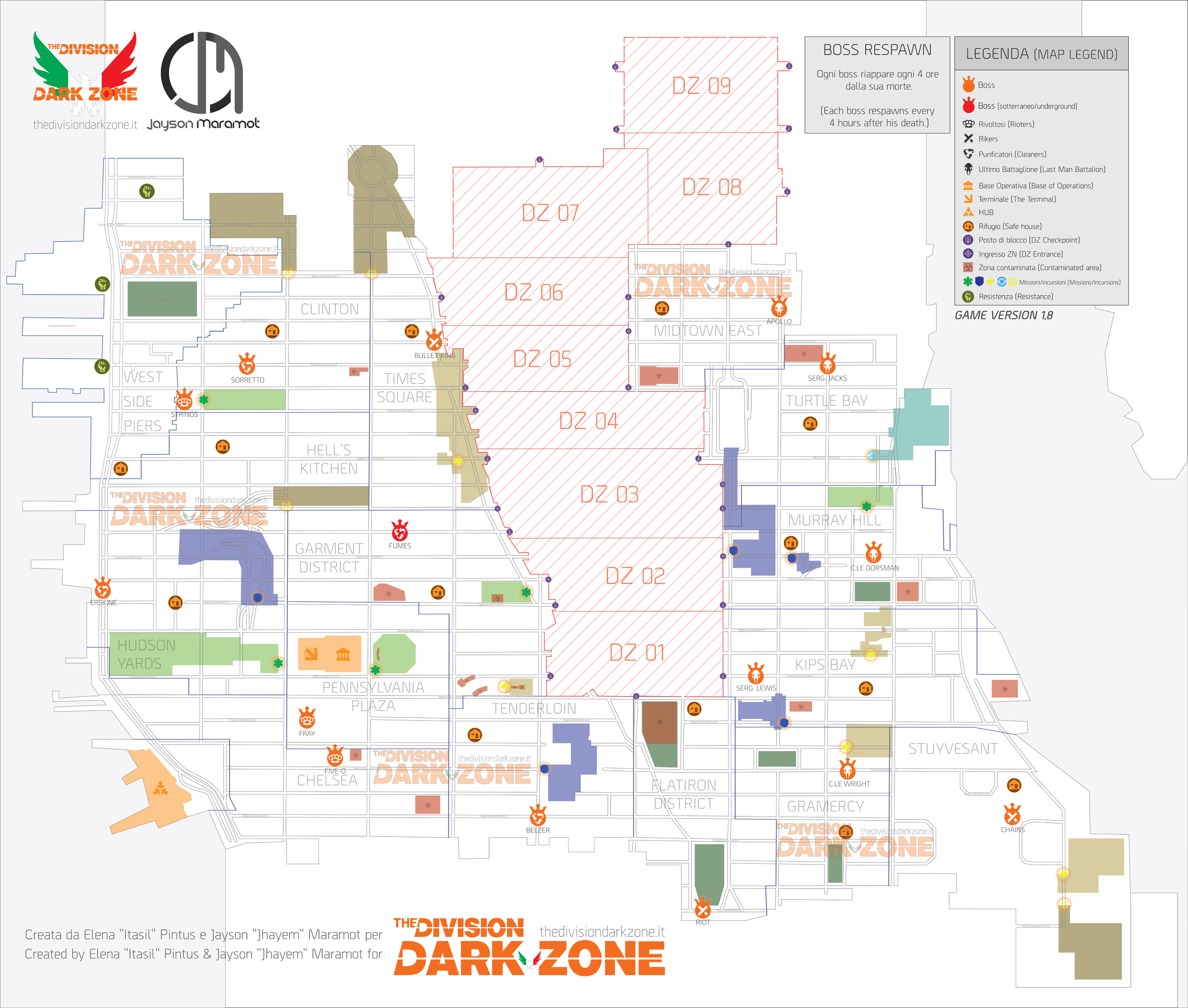 Map Of World Bosses In The Division.Dark Zone And Pve Boss Maps Updated By The Division Dark Zone